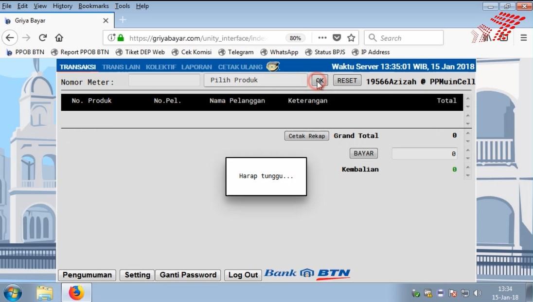 Cara Transaksi Pembayaran Menggunakan Komputer Ppob