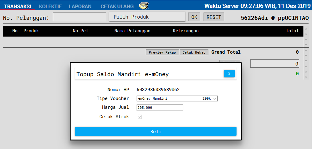 top up mandiri e toll